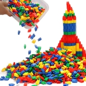 火箭子彈頭積木玩具益智兒童拼插塑料幼兒園3-6-7-8周歲男孩早教教具   LannaS