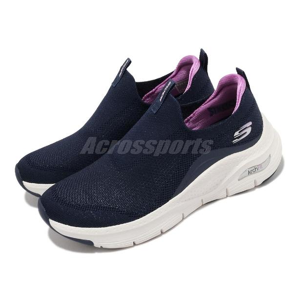 Skechers 健走鞋 Arch Fit Keep It Up 女鞋 深藍 套入式 足科醫生推薦【ACS】 149415NVPR