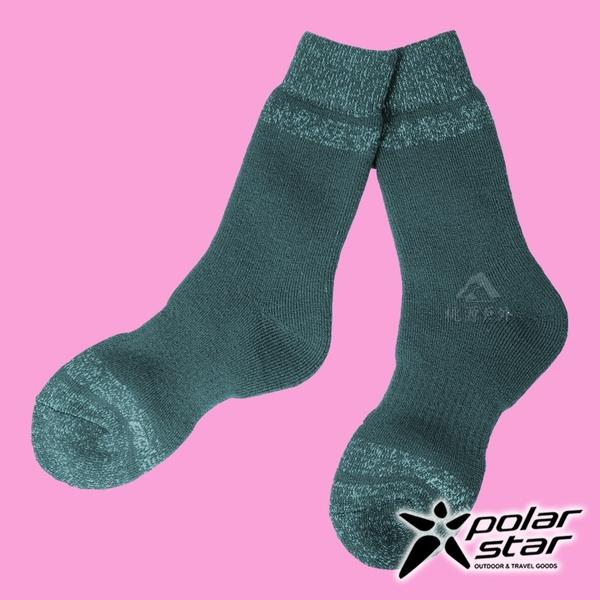 【PolarStar】羊毛保暖雪襪『藍綠』P18609 露營.戶外.登山.保暖襪.彈性襪.休閒襪.長筒襪.襪子