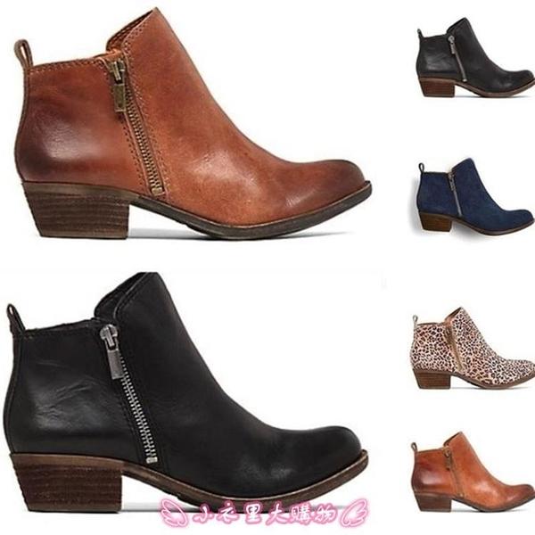 短靴 41 42 43大碼婦女粗跟短靴Women's stubby boots - 小衣里大購物