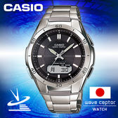 CASIO 手錶專賣店 電波腕錶 WVA-M640D-1AJF 黑面 日本版 六局電波太陽能多國語言腕錶 100米防水
