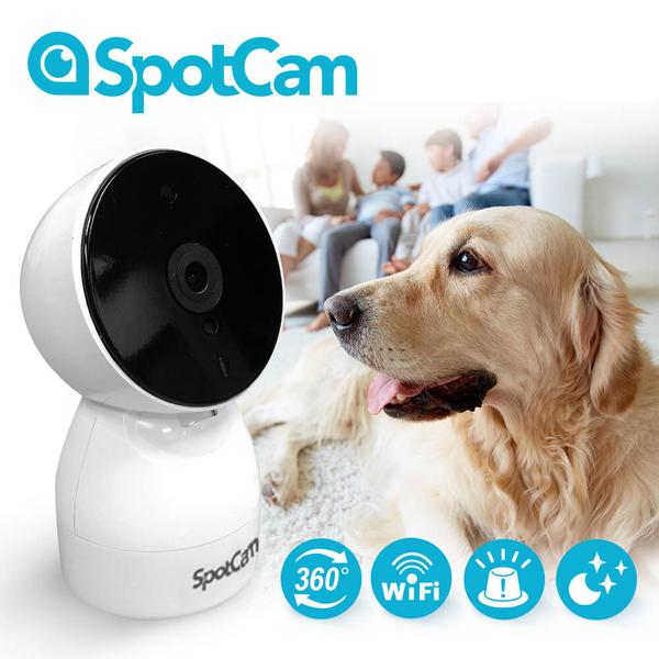 SpotCam HD Eva 廣角+可擺頭360度真雲端攝影機 (含一年期7天雲端循環錄影)