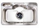 【麗室衛浴】吧檯廚房專用不銹鋼 防蟑 防臭 水槽 GDS 850P  尺寸:850*515*205mm