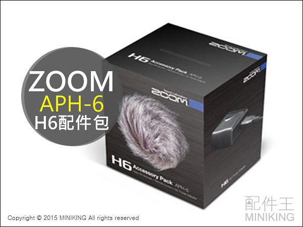 【配件王】日本代購 ZOOM Handy Recorder H6 配件包 APH-6 遙控器 防風罩 供電器