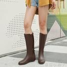 女士水鞋高筒女式雨鞋女時尚款外穿韓國防水長筒雨靴秋冬水靴防滑 蘿莉新品