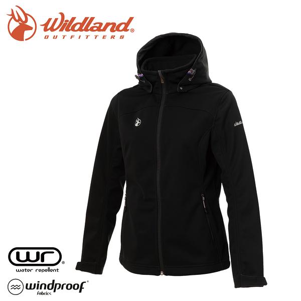 【Wildland 荒野 女 三層貼防風保暖功能外套《黑》】0A72907/夾克/運動外套/抗風透氣