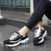 春季韓版學生運動鞋黑白熊貓鞋透氣跑步鞋男女鞋情侶休閒鞋旅游鞋