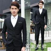西裝套裝 新款男士三件套修身小西裝職業正裝伴郎新郎結婚禮服 QQ7187『東京衣社』