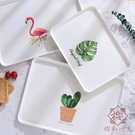 托盤塑料長方形家用北歐簡約端菜蛋糕面包水果盤茶盤【櫻田川島】