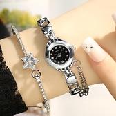 手錶女韓版時尚潮流chic手錶女簡約女表石英表中學生小巧迷你手鍊手錶