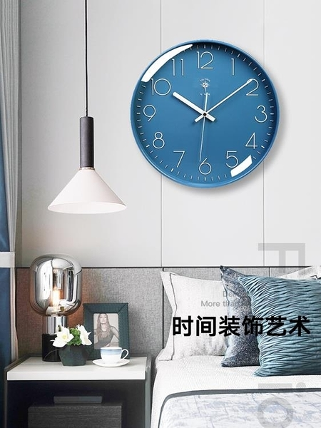 掛鐘時鐘 鐘表掛鐘客廳北歐簡約創意靜音時鐘掛墻家用時尚掛表石英鐘 優拓