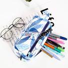 筆盒 大容量筆袋韓國簡約女生小清新可愛文...