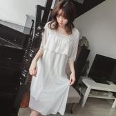 2019新款春夏季氣質睡裙日系韓國可愛蕾絲公主仙女神莫代爾女睡衣