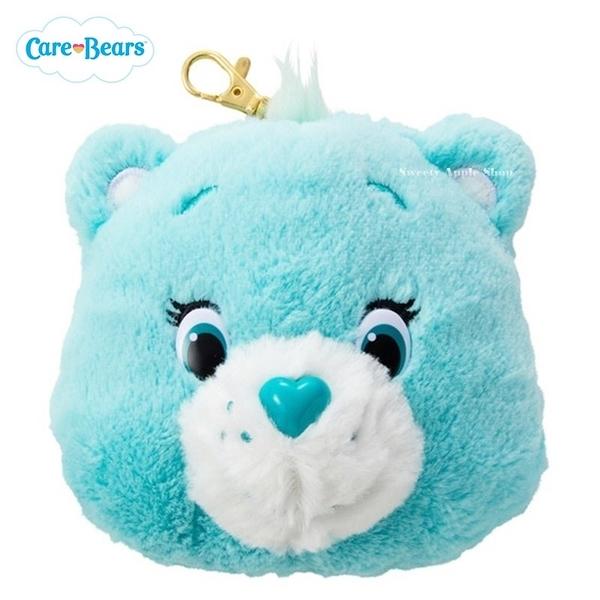 日本限定 Care Bears 彩虹熊 伸縮玩偶票卡夾 (藍)