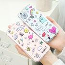 韓國 隨筆插畫 透明軟殼 手機殼│S6 Edge Plus S7 S8 S9 Note4 Note5 Note8 Note9│z7631