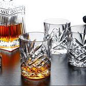 6只裝歐式無鉛水晶威士忌酒杯洋酒杯子啤酒杯玻璃杯套裝