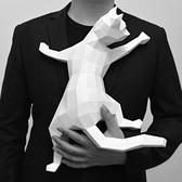 正版匠紙_DIY材料包_手作_3D紙模型_禮物_撒嬌的貓擺飾