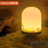 LED充電小夜燈床頭燈嬰兒喂奶臥室小檯燈起夜觸碰調光小白夜燈