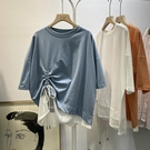 假兩件上衣 短袖t恤女正韓寬鬆假兩件 設計感個性洋氣上衣夏-Ballet朵朵