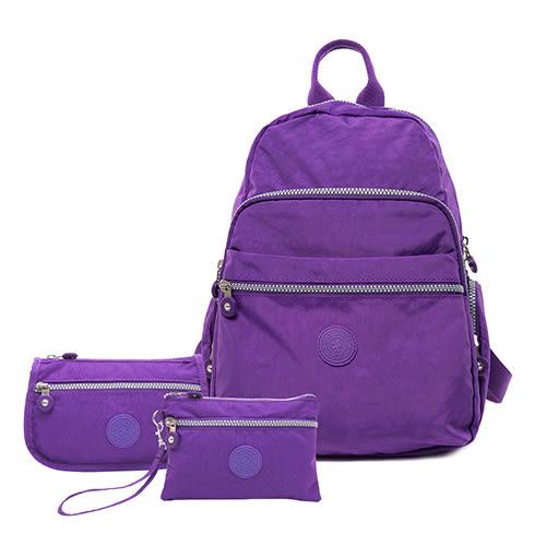 COUNT DUCK 美系悠活輕量多功能後背-CD-004(超值三件組)神秘紫