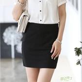 半身裙彈力包臀裙黑色一步裙女夏裝短款半裙工作裙子職業短裙包裙