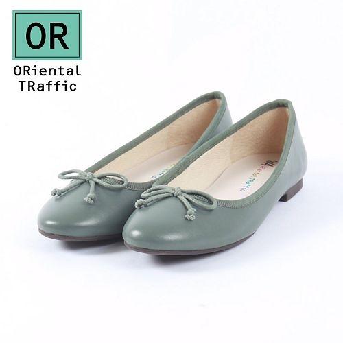 【ORiental TRaffic】經典名品圓楦芭蕾舞鞋-復古綠