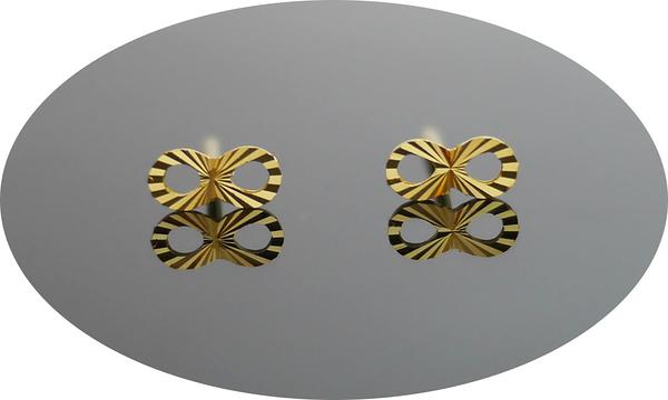 gold 黃金 耳環 金飾 保證卡 重量0.17錢 [ ge 075 ]