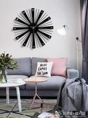 北歐客廳鐘錶掛鐘個性創意時尚現代簡約裝飾歐式靜音時鐘藝術大氣WD 晴天時尚館