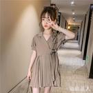 女童洋裝連身裙兒童裙子西裝裙2020新款夏裝中大童雪紡潮流衣服洋氣時髦 HR136【極致男人】