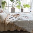 繽紛佳人 QS3雙人加大床裙與雙人鋪棉兩用被四件組 100%精梳棉