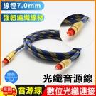 編織7.0光纖音源連接線-3m