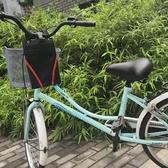 電動車掛包自行車前置收納袋電車掛兜手機收納包帆布儲物包車把包 小明同學