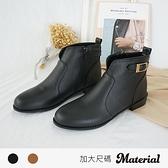 短靴 加大側扣飾短靴 MA女鞋 TG58018