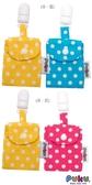 PUKU 藍色企鵝 平安符保護袋(2入)-(粉色/黃色)/(藍色/黃色)