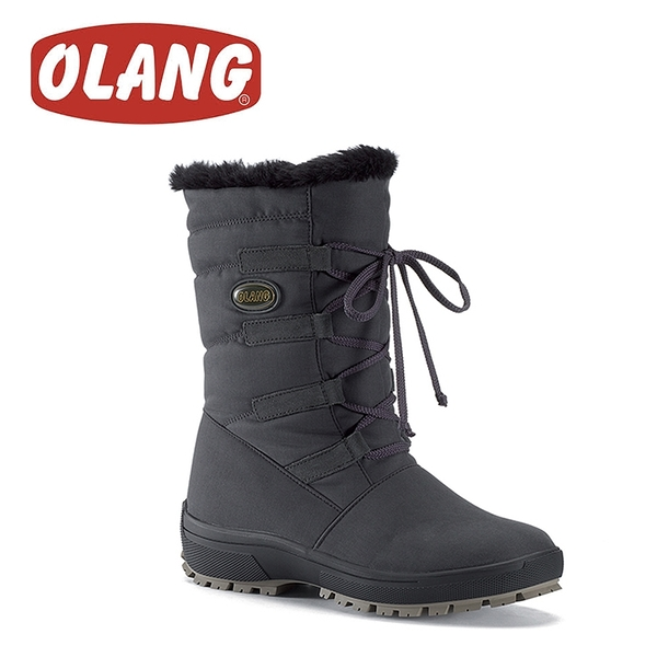 【OLANG 義大利 NORA OLANTEX 防水雪靴《黑》】1402/保暖/滑雪/雪地