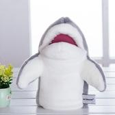 海洋動物手偶娃娃卡通手套玩偶寶寶早教安撫毛絨玩具嘴巴能動鯊魚
