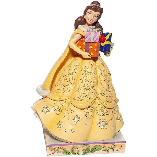 Enesco Disney 迪士尼公主 美女與野獸貝兒聖誕塑像_EN27015