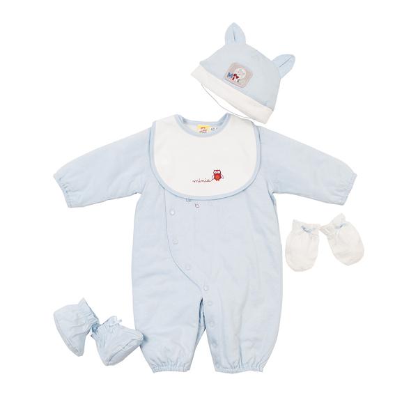 【愛的世界】鋪棉兩用嬰衣禮盒/6個月-台灣製- ---禮盒推薦