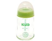 AKACHAN阿卡將 KOB寬口徑玻璃奶瓶150ml-綠