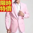 西裝外套典雅薄款-率性日系保暖精美男西服(單件外套)2色59t12【巴黎精品】