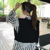 針織衫馬甲 秋新款韓版針織背心馬甲女寬鬆百搭顯瘦套頭學生短款上衣馬夾 coco衣巷