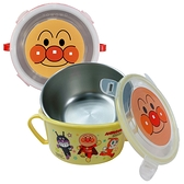 台灣製造 304不鏽鋼 雙耳兒童碗 附扣環式上蓋 麵包超人 正版授權 350cc 隔熱碗 餐碗 學習碗 3103