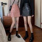 2020秋冬新款ins冷淡風PU皮裙黑色半身裙女高腰a字顯瘦包臀短裙子 黛尼時尚精品