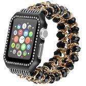 適用Apple watch水晶表帶適用蘋果手表帶iwatch手工制作表帶【韓衣舍】
