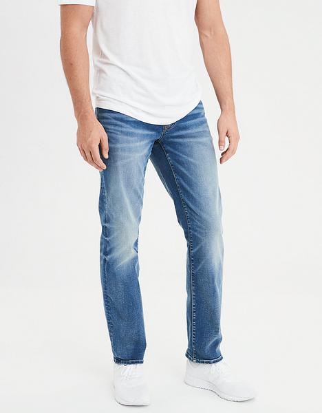 (BJGO) AMERICAN EAGLE_男裝_AE NE(X)T LEVEL ORIGINAL STRAIGHT JEAN 美國老鷹舒適直筒牛仔褲 最新代購