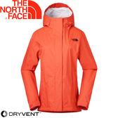 【The North Face 女 DV防水外套《紅》】3CHU/防水外套/風衣★滿額送