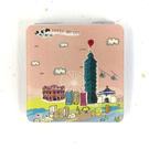 【收藏天地】台灣紀念品*雙面隨身鏡-童話台北 /小物 送禮 文創 風景 觀光  禮品