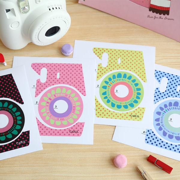 拍立得 mini8 相機個性潮流貼紙 太陽花 機身貼紙 裝飾貼紙  5色 圓點 小花 Mini8 富士