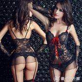 性感情趣內衣女蕾絲透明馬甲吊帶絲襪套裝OL秘書制服極度誘惑sm騷  優家小鋪