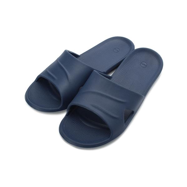 SLIPA 微按摩輕巧室內拖 深藍 JA22 男鞋 鞋全家福